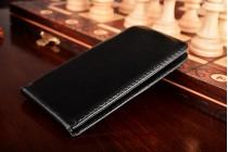 Фирменный оригинальный вертикальный откидной чехол-флип для ZTE Blade Z10 5.2 черный