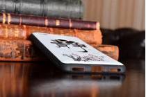 Фирменная необычная из мягкого и тонкого силикона задняя панель-чехол-накладка для  ZTE Nubia N1 5.5 тематика Цветок