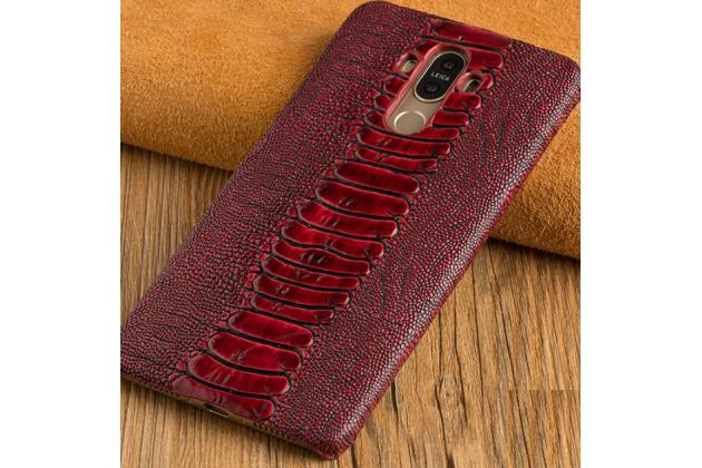 Фирменная роскошная эксклюзивная накладка с объёмным 3D изображением рельефа кожи крокодила красная для ZTE Nubia N1. Только в нашем магазине. Количество ограничено