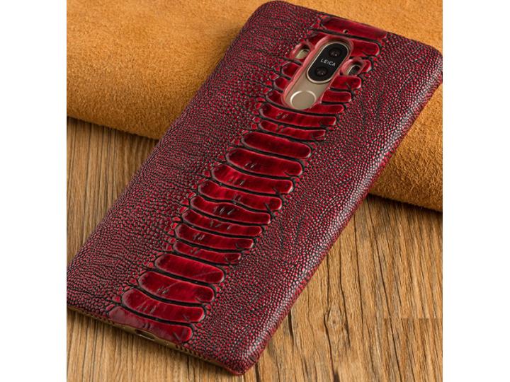 Фирменная роскошная эксклюзивная накладка с объёмным 3D изображением рельефа кожи крокодила красная для ZTE Nu..