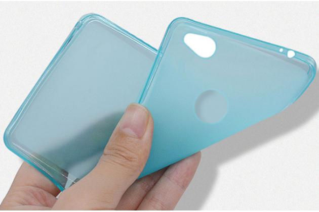 Фирменная ультра-тонкая полимерная из мягкого качественного силикона задняя панель-чехол-накладка для ZTE Nubia N1 черная