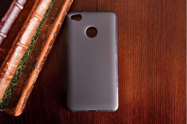 Фирменная ультра-тонкая полимерная из мягкого качественного силикона задняя панель-чехол-накладка для ZTE Nubia Z11 mini S 5.2 черная