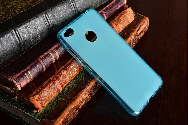 Фирменная ультра-тонкая полимерная из мягкого качественного силикона задняя панель-чехол-накладка для ZTE Nubia Z11 mini S 5.2 голубая