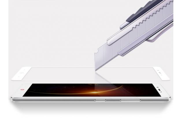 Фирменное 3D защитное изогнутое стекло с закругленными изогнутыми краями которое полностью закрывает экран / дисплей по краям с олеофобным покрытием для ZTE Nubia Z11 mini S 5.2