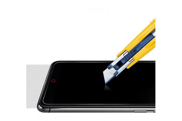Фирменное защитное закалённое противоударное стекло премиум-класса из качественного японского материала с олеофобным покрытием для телефона ZTE Nubia Z11 mini S 5.2