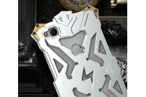 """Противоударный металлический чехол-бампер из цельного куска металла с усиленной защитой углов и необычным экстремальным дизайном для ZTE Nubia Z11 Mini 5.0"""" (NX529J) серебристого цвета"""