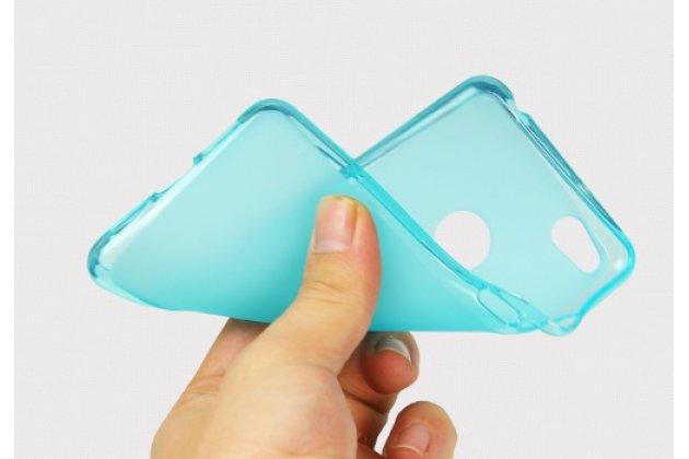 """Фирменная ультра-тонкая полимерная из мягкого качественного силикона задняя панель-чехол-накладка для ZTE Nubia Z11 Max 6.0"""" (NX523J) голубая"""
