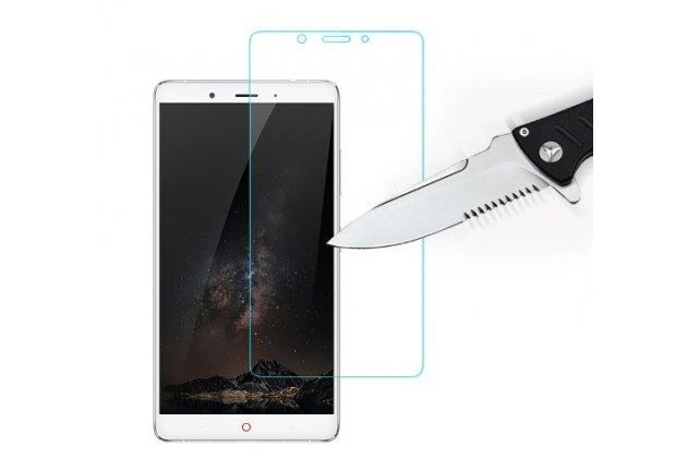 """Фирменное защитное закалённое противоударное стекло премиум-класса из качественного японского материала с олеофобным покрытием для телефона ZTE Nubia Z11 Max 6.0"""" (NX523J)"""