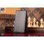 """Фирменный оригинальный вертикальный откидной чехол-флип для ZTE Nubia Z7 Mini черный кожаный """"Prestige"""" Италия"""