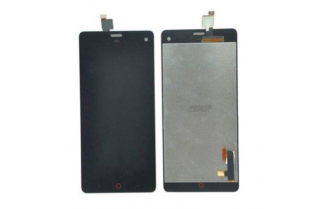 Фирменный LCD-ЖК-сенсорный дисплей-экран-стекло с тачскрином на телефон ZTE Nubia Z7 Mini черный и инструменты для вскрытия + гарантия