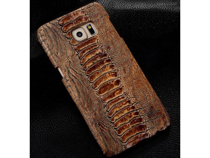 Фирменная неповторимая экзотическая панель-крышка обтянутая кожей крокодила с фактурным тиснением для ZTE Nubi..