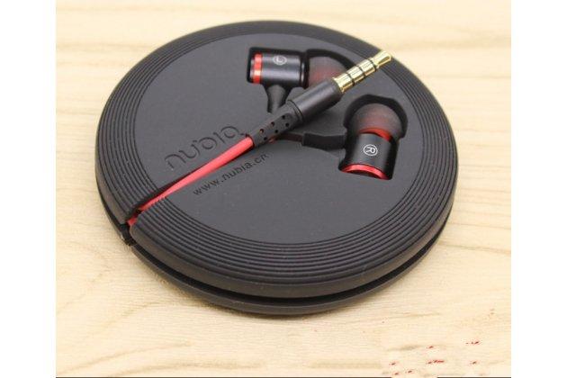 Фирменные оригинальные наушники-вкладыши ZTE с микрофоном и переключателем песен для всех моделей телефонов