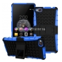 Противоударный усиленный ударопрочный фирменный чехол-бампер-пенал для ZTE Nubia Z9 Mini синий..