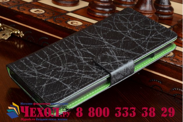 Фирменный чехол-книжка из качественной импортной кожи с мульти-подставкой застёжкой и визитницей для ЗТЕ Нубия З9 Мини черный
