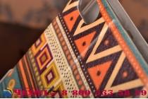 """Фирменный уникальный необычный чехол-книжка для ZTE Nubia Z9 Mini  """"тематика Эклектические Узоры"""""""