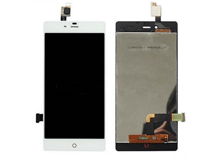 Фирменный LCD-ЖК-сенсорный дисплей-экран-стекло с тачскрином на телефон ZTE Nubia Z9 Mini 5.0 (NX511J) белый..