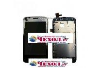 Фирменный LCD-ЖК-сенсорный дисплей-экран-стекло с тачскрином на телефон ZTE V769M черный