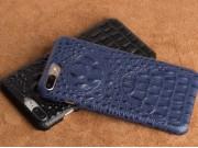 Фирменная роскошная эксклюзивная накладка с объёмным 3D изображением рельефа кожи крокодила синяя для ZTE Nubi..