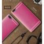 Фирменная премиальная элитная крышка-накладка на ZTE Nubia M2 5.5 (NX551J) розовая  из качественного силикона ..