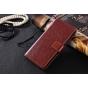 Фирменный чехол-книжка из качественной импортной кожи с подставкой застёжкой и визитницей для ZTE Nubia Z17 mi..
