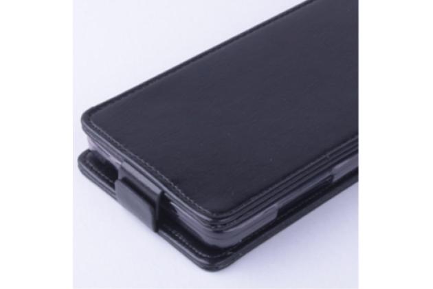 """Фирменный вертикальный откидной чехол-флип для ZTE Blade HN V993W 5.0"""" черный"""