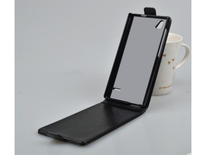 Фирменный вертикальный откидной чехол-флип для ZTE Blade Vec 4G 5.0