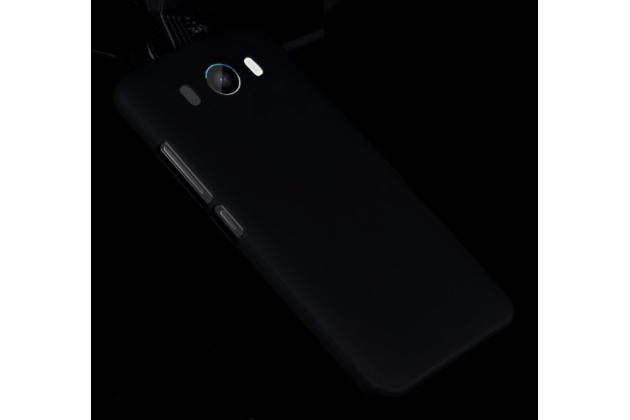 """Фирменная задняя панель-крышка-накладка из тончайшего и прочного пластика для ZTE Grand S3 (S2004) 5.5"""" черная"""