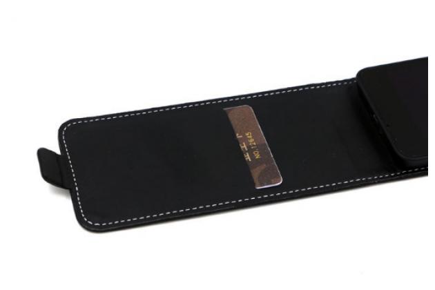 """Фирменный вертикальный откидной чехол-флип для ZTE Grand S3 (S2004) 5.5"""" черный"""