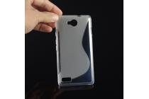 """Фирменная ультра-тонкая полимерная из мягкого качественного силикона задняя панель-чехол-накладка для  ZTE Blade G Lux  / Kis 3 Max (V830) 4.5"""" серая"""