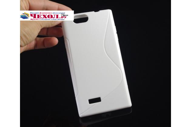 Фирменная ультра-тонкая полимерная из мягкого качественного силикона задняя панель-чехол-накладка для ZTE Blade L2  белая