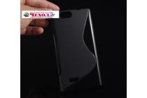 Фирменная ультра-тонкая полимерная из мягкого качественного силикона задняя панель-чехол-накладка для ZTE Blade L2 черная