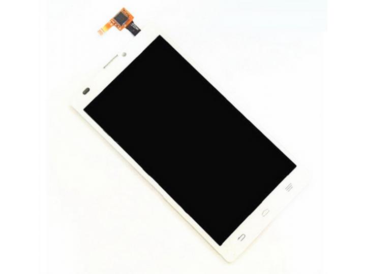 Фирменный LCD-ЖК-сенсорный дисплей-экран-стекло с тачскрином на телефон ZTE Blade L2 белый + гарантия..
