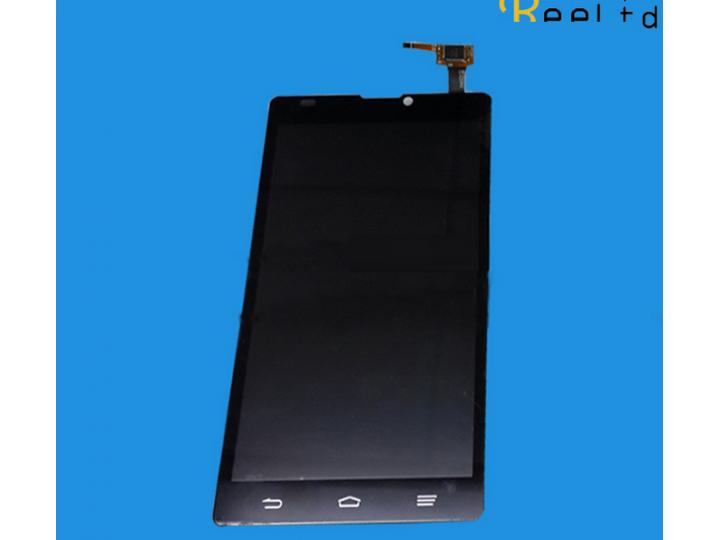 Фирменный LCD-ЖК-сенсорный дисплей-экран-стекло с тачскрином на телефон ZTE Blade L2 черный + гарантия..