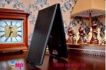 Фирменный оригинальный вертикальный откидной чехол-флип для ZTE Blade L2 черный кожаный