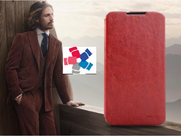 Фирменный чехол-книжка для  ZTE Grand Memo 1 (N5) с  мультиподставкой коричневый кожаный..