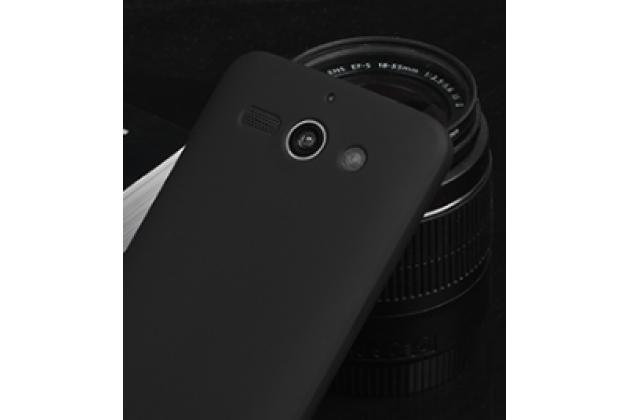 """Фирменная задняя панель-крышка-накладка из тончайшего и прочного пластика для ZTE Grand S2 / SII (S291) 5.5""""  черная"""