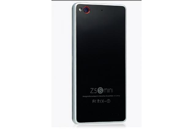 """Фирменная металлическая задняя панель-крышка-накладка из тончайшего облегченного авиационного алюминия для ZTE Nubia Z5S mini 4.7"""" (NX403A) черная"""