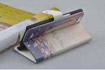 """Фирменный уникальный необычный чехол-подставка с визитницей кармашком для ZTE Nubia Z7 Max """"тематика Франция"""""""