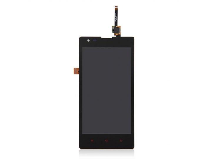 Фирменный LCD-ЖК-сенсорный дисплей-экран-стекло с тачскрином на телефон ZTE Nubia Z7 Max черный + гарантия..