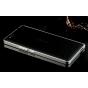 Фирменный оригинальный ультра-тонкий чехол-бампер для ZTE Nubia Z7 Max серебристый металлический..