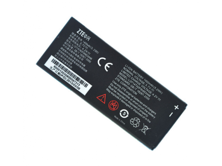 Фирменная аккумуляторная батарея Li3714T42P3h853448 1400 mah на телефон ZTE SKATE 1 4.3