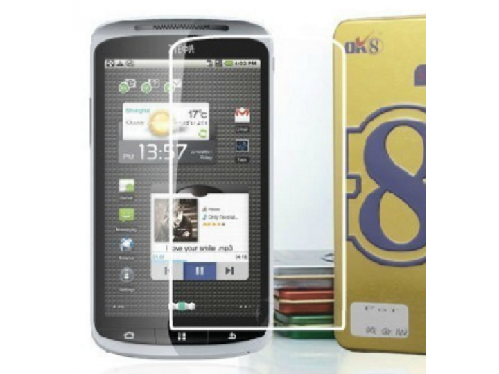 Фирменная оригинальная защитная пленка для телефона ZTE SKATE 1 4.3