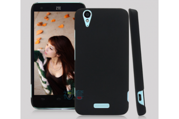 Задняя панель-крышка-накладка из тончайшего и прочного пластика для ZTE V975 Geek черная