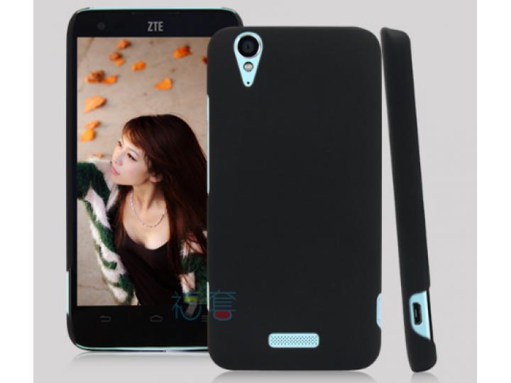 Задняя панель-крышка-накладка из тончайшего и прочного пластика для ZTE V975 Geek черная..