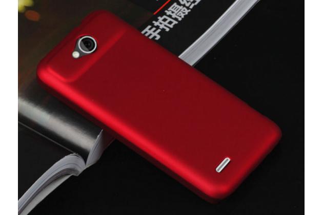 """Фирменная задняя панель-крышка-накладка из тончайшего и прочного пластика для ZTE Skate 2 5.0"""" (V967S) красная"""