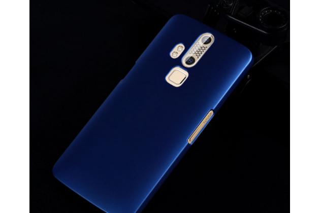Фирменная задняя панель-крышка-накладка из тончайшего и прочного пластика для Zte Axon Mini/Mini Premium Edition B2015 5.2 синяя