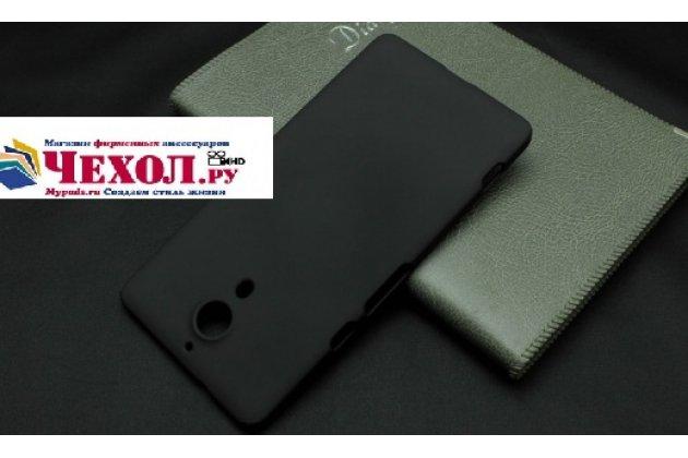 """Фирменная задняя панель-крышка-накладка из тончайшего и прочного пластика для ZTE Nubia X6 6.4"""" (NX601J) черная"""