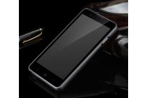 Фирменная металлическая задняя панель-крышка-накладка из тончайшего облегченного авиационного алюминия для  ZTE V5 / V5s (U9180 / V9180 Red Bull) черная