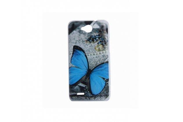 """Фирменная необычная уникальная пластиковая задняя панель-чехол-накладка для ZTE V987 Grand X Qua """"тематика Бабочка"""""""