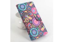 """Фирменный уникальный необычный чехол-подставка с визитницей кармашком для Zopo ZP999 Lite"""" """"тематика разноцветные узоры в галактике"""""""